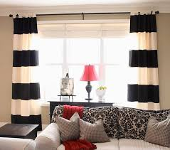 Beautiful Black And White Curtains Wide Array In With Decorating Ideas