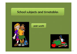 esl school subjects powerpoint presentations exercises school subjects and timetables