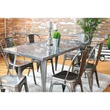 industrial kitchen table furniture. Carbon Loft Swan Industrial Metal Dining Table Kitchen Furniture T