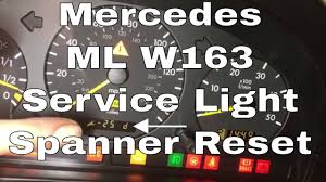 Ml320 Service Light Reset Ml Service Light Reset W163 270 Cdi 2004 Mercedes Spanner Light