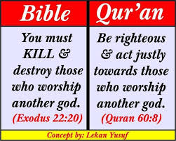 Bible Vs Quran Gambar Islami