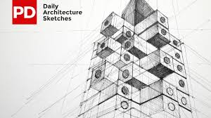 architecture sketches. drawing nakagin capsule tower daily architecture sketches 13