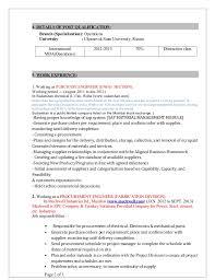 Procurement Engineer Sample Resume