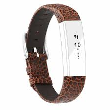 goosehill replacement leather straps bands compatible for fitbit alta and alta hr adjustable replacement bracelet sport straps compatible for on on