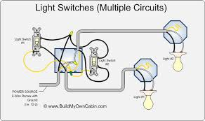 light switch wiring diagram multiple lights light switch wiring colors Light Switch Wiring Code wiring multiple switches to multiple lights diagram