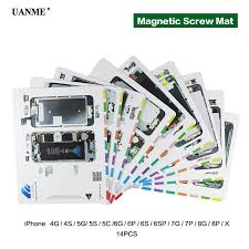 Us 26 99 10 Off Uanme Professional Magnetic Screw Mat For Iphone 4 5 6 6s 7 8 Plus X Screw Pad Keeper Chart Guide Pad Phone Repair Tools In Hand