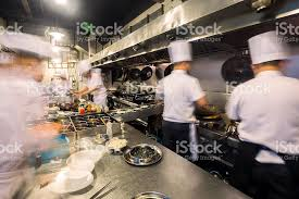 busy kitchen. Chinese Kitchen Busy At Work Royalty-free Stock Photo
