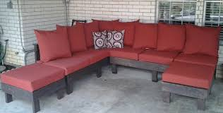 great diy outdoor u shaped sectional cushioned couch with ottomans inspiring designs ideas of diy