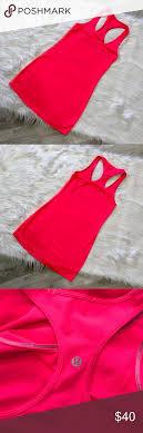 Lululemon Racerback Tank Top Bright Pink Lululemon Athletica