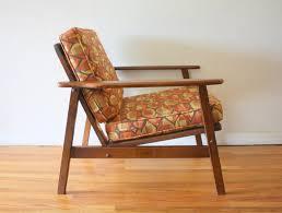 mcm arm chair geometric pattern cushions 2