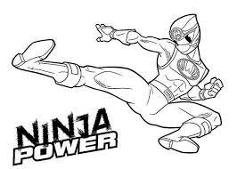 Small Picture Ninja Power Rangers Coloring Page Ninja Power Rangers Coloring