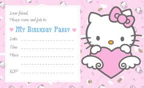 Printable Hello Kitty Invitations Personalized 40th Birthday Ideas Hello Kitty Birthday Invitation