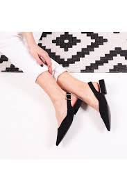 Linzi HILDA - Black Suede Sling Back Pump With Pointed Toe - Linzi from  Little Mistress UK