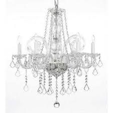 empress 5 light crystal chandelier