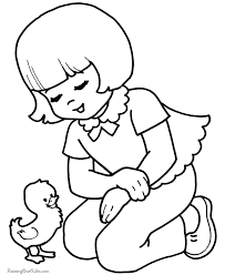 easter coloring book page for kid