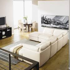U Shaped Couch Living Room Furniture Minimalist Living Room Interior Design With White Wall Paint Color