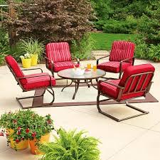 mainstays lawson ridge 5 piece patio conversation set red seats 4
