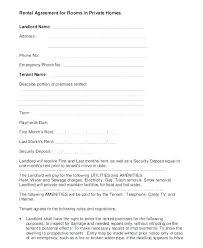 Room Rental Contract Roommate Printable Sample Simple Room Rental Agreement Form