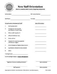 Staff Orientation Checklist New Staff Orientation Checklist Ta 827 Oregon Early Learning
