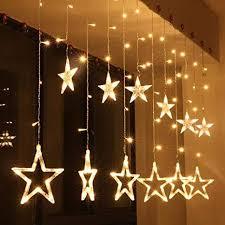138 Led Vorhang Lichterkettekingcoo 2m 12 Sterne Batteriebetriebene Fenster Vorhang Fee Lichterketten Dekoleuchte Für Festival
