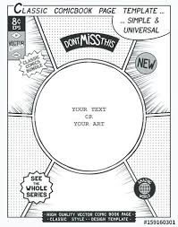 Vector Illustration Comic Book Page Layout Template Character Design