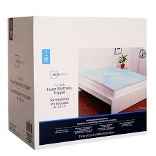memory foam mattress topper walmart. Mainstays 1.5\ Memory Foam Mattress Topper Walmart T