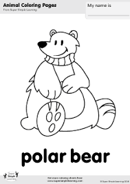 Small Picture Free Polar Bear Coloring Page from Super Simple Learning