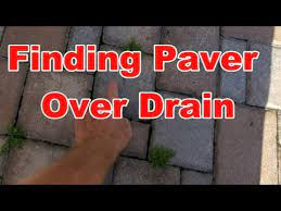 patio drainage best way to fix pavers