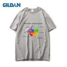Chart Tee Rick Astley Pie Chart Tee 2018 100 Cotton Design T Shirt