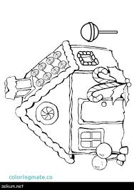 House Coloring Pages Printable Gingerbread House Pictures To Color