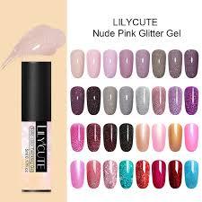 <b>LILYCUTE 5ml</b> Color Gel Polish <b>Holographic</b> Glitter Sequins <b>UV</b> ...