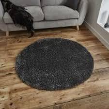 think rugs vista plain 2236 dark grey rugs