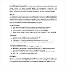 Database Analyst Job Description Data Analyst Job Description Template 9 Free Word Pdf Format