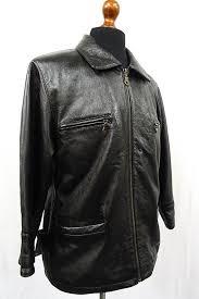 details about vintage highwayman pilot motorcycle leather jacket 42s kb72a