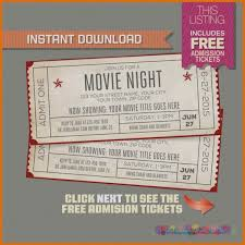 20 Retro Movie Ticket Template Editable Pictures And Ideas On