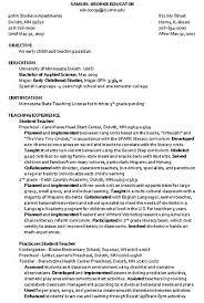 Sample Resume Child Care Assistant Position Letsdeliver Co