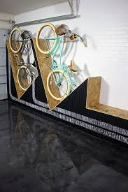 a unique way to your bikes in the garage a diy wall mounted