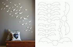 Check out our halloween wall decor selection for the very best in unique or custom, handmade pieces from our wall hangings shops. Diy Paper Bat Wall Art Wall Decor Bedroom Diy Wall Decor Homemade Wall Decorations