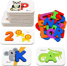 The cards can be used to play memory game and matching (print cards twice). Amazon Com Number And Alphabet Flash Cards For Toddlers 3 5 Years Abc Montessori Educational Toys Gifts For 3 4 5 Year Old Preschool Learning Activities Wooden Letters And Numbers Animal Puzzle Flashcards Set