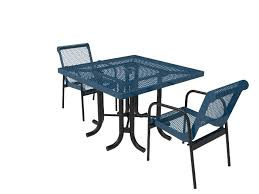 46in square patio table with chairs expanded metal