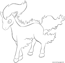 Small Picture 077 ponyta pokemon Coloring pages Printable