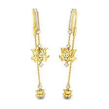Latest Design Of Gold Earrings Sui Dhaga Divine Lotus Sui Dhaga