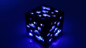 Diamond Ore Light Minecraft Light Up Diamond Ore From Thinkgeek