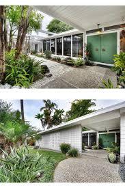 mid century modern front doors. Midcentury Mid Century Modern White Home Exterior High Tall Front Door Doors \u2026