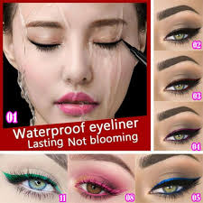 dels about 12 color waterproof shiny eyeshadow glitter liquid eyeliner makeup eye liner pen