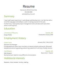 Resume Template Basic Resume Examples Free Career Resume Template