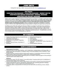 Project Management Sample Resumes Sample Resume Profile Project