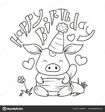 Schattige Cartoon Kat In Liefde Symbool Van 2019 Nieuwjaar