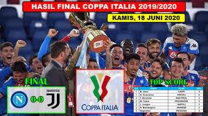Gianluigi buffon vs napoli (final coppa italia). Hasil Final Coppa Italia 2019 2020 Napoli Vs Juventus Final Coppa Italy 2020 Youtube