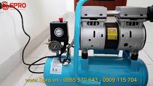 Máy nén khí mini, bơm hơi gia đình - Máy bơm hơi xách tay không dầu 0.75HP  Minbao - Dung tích 9L